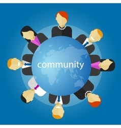 Community people around the globe business vector