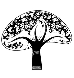 abstract tree with buttterflies vector image