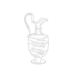 Vintage wine jug hand drawn realistic sketch vector