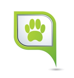 Animal footstep green pointer vector