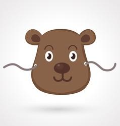 bear mask vector image vector image