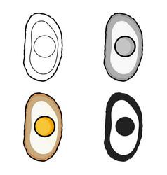 Bibimbap icon in cartoon style isolated on white vector