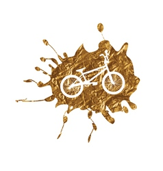 Bmx bike inside golden splash vector