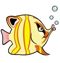 cartoon aquarium fish vector image vector image