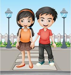 Cartoon Lovers vector image