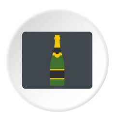 Champagne bottle icon circle vector