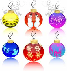 Christmas ball collection vector image