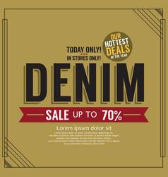 Denim sale promotion banner vector