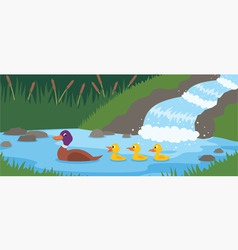 duck tale vector image vector image