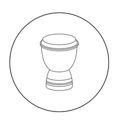 Goblet drum icon in outline style isolated on vector