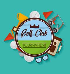 golf club tournament badge equipment sport vector image