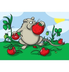 Greedy mouse vector image vector image