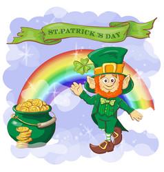 happy saint patrick s day greeting card vector image