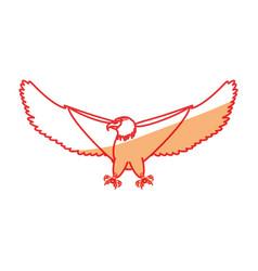 Hawk eagle symbol vector