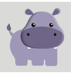 Hippo animal cute little design vector