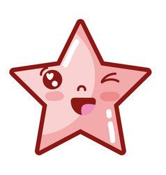 Kawaii cute funny star sparkly vector
