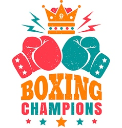 kings boxing color new vector image vector image