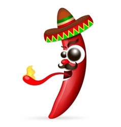 Mexican red hot chili pepper vector