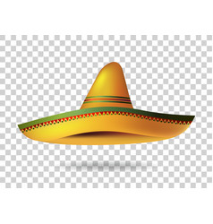Mexican Sombrero Hat transparent background vector image vector image