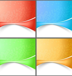 Modern abstract wave tech backgrounds collection vector image vector image