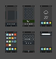 Modern smartphones vector