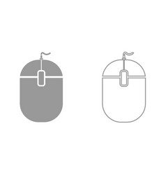 pc mouse it is black icon vector image vector image