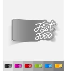 Realistic design element fast food vector