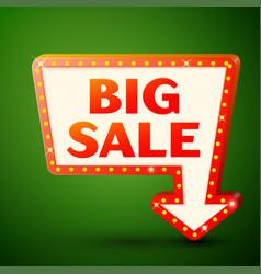 Retro billboard with inscription big sale vector
