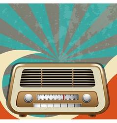 Retro design with vintage radio vector image