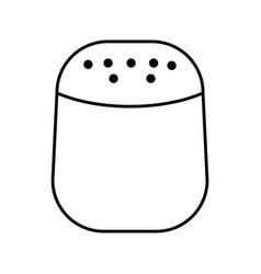 Salt bottle kitchen utensil isolated icon vector