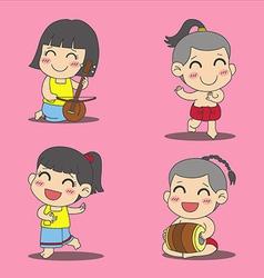 Thai children 1 vector