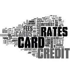 Where to find the best credit card rates text vector