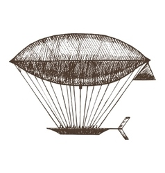 Zeppelin Hand Draw Sketch vector image