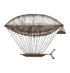 Zeppelin hand draw sketch vector