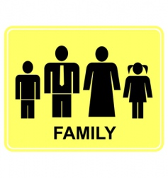 family sign vector image