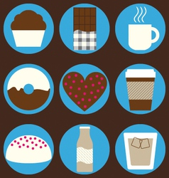 Coffee and chocolate set vector