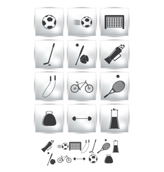 Set icons sport and soccer vector