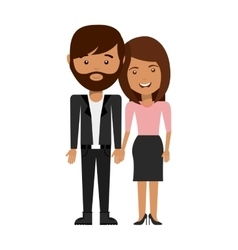 Couple love relationship icon vector
