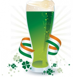 St patrick's day beer vector