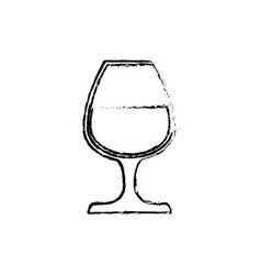 Delicious cup of wine vector