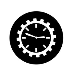 Time clock isolated icon vector