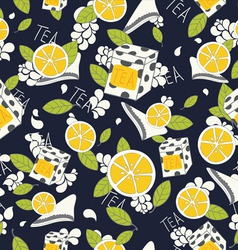 tea pattern vector image