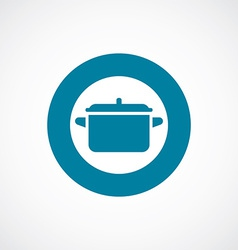 Pot icon bold blue circle border vector