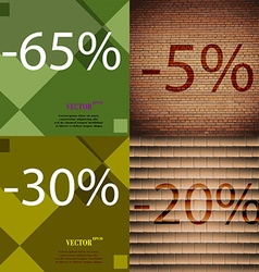 5 30 20 icon set of percent discount on abstract vector