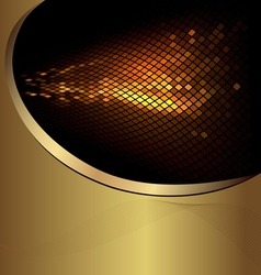 abstract gold business background vector image