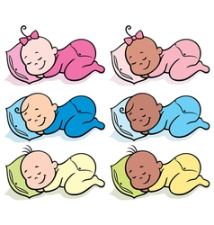 Sleeping babies vector