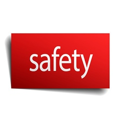 Safety red paper sign isolated on white vector