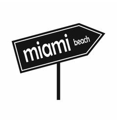 Miami arrow post sign icon simple style vector
