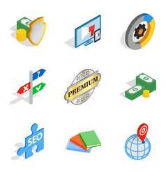 Banking protection icons set isometric style vector
