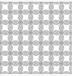 black and white seamless celtic knotwork pattern vector image